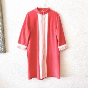 70s Vanity Fair Pink Fleece Zip Robe House Dress